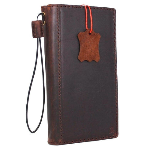 genuine real leather Case for Samsung Galaxy S7 plus book wallet luxury cover s Businesse daviscase HANDMADE
