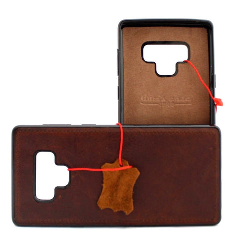 Genuine leather case fo samsung galaxy note 9 book cover soft magnetic vintage  slim rubber daviscase