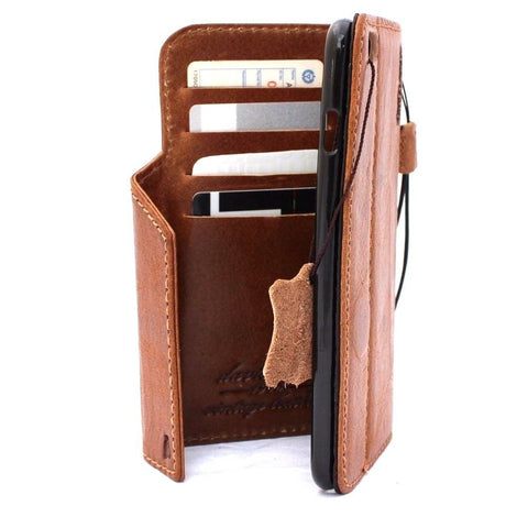 genuine vintage leather case for iphone 6s plus cover Bible book wallet credit card id magnet business slim s 6 daviscase