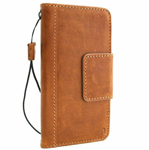 Genuine leather Case for Samsung Galaxy S10e book wallet cover Cards flip charging rubber holder slim daviscase