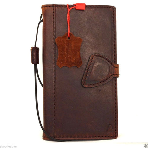 Genuine italian leather case for samsung galaxy s6 edge plus book walletmagnet cover slim brown daviscase