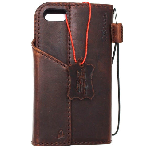Genuine Leather Case for iPhone SE 2 2020 Cover Book Wallet Cards Magnetic Slim Davis classic 3D Wireless charging se2