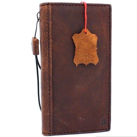 Genuine Real Leather Case for Google Pixel 2 Book Wallet Handmade Retro Luxury IL slim Davis