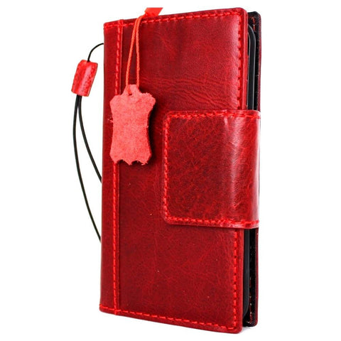 Genuine italian leather Case for Samsung Galaxy S7 edge book wallet luxury cover s Businesse daviscase Red mag