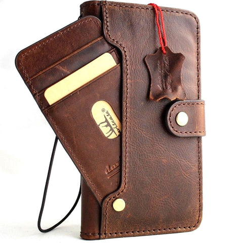 Genuine leather for apple iPhone xs case cover vintage wallet credit book wireless charge luxury holder handmade Jafo