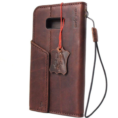 genuine vintage oil leather Case for Samsung Galaxy S8 Plus book wallet magnetic