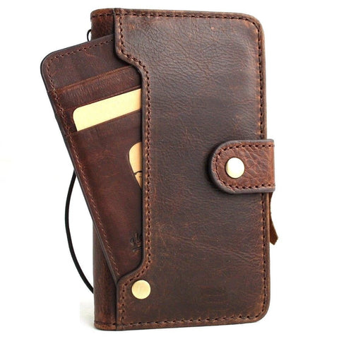 Genuine leather Case for Samsung Galaxy S10 book wallet cover Cards wireless charging window luxuey vintage slim daviscase