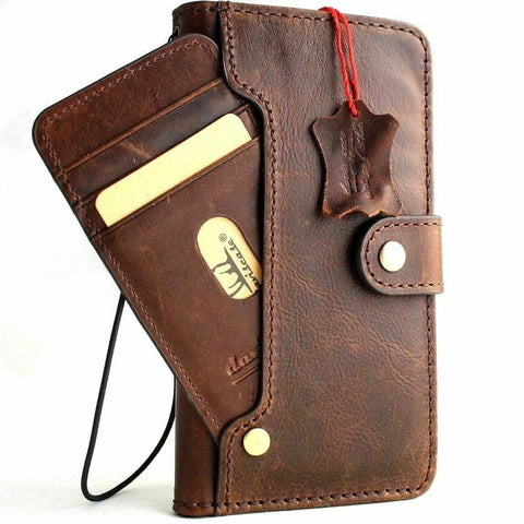 Genuine Dark Soft Leather Case for Google Pixel 2 XL Book Wallet Handmade Retro Luxury holder Davis