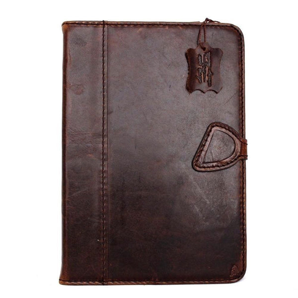 genuine vintage Leather safe case for apple iPad Air 1 hard cover stand cards slots wallet brown magnet slim daviscase