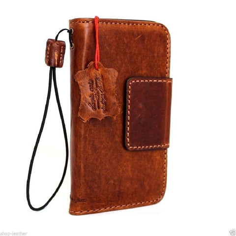 genuine vintage leather Case for Samsung Galaxy S7 book wallet handmade cover s Businesse daviscase mag lite