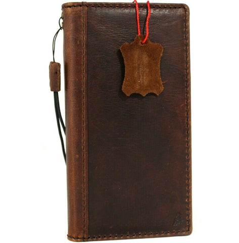 Genuine Dark Leather Case for Google Pixel 4a 5G Book Wallet Full holder Retro Stand Luxury IL Davis 1948