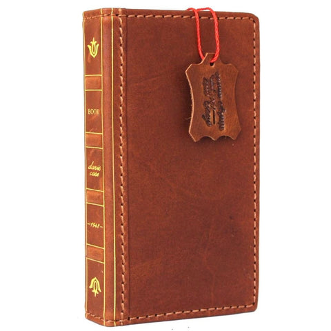 Genuine REAL leather iPhone 7 clasiic case cover bible wallet credit holder book luxury Rfid Pay 1940 DavisCase