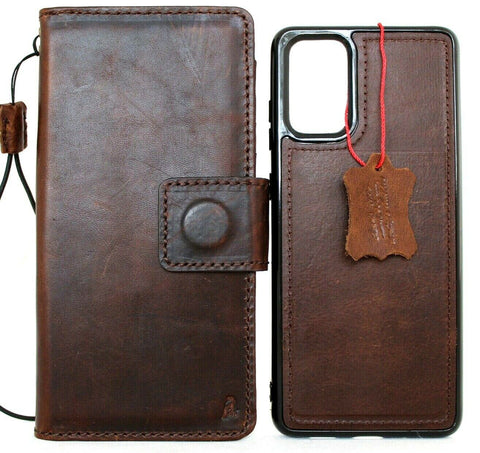Genuine full leather Case for Samsung Galaxy S20 Plus book wallet Removable cover Cards window Jafo magnetic stand slim luxury
