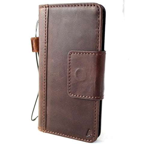 Genuine Real Leather Case for Huawei Mate 20 Pro Book Wallet Handmade magnetic Retro Luxury wireless charging IL