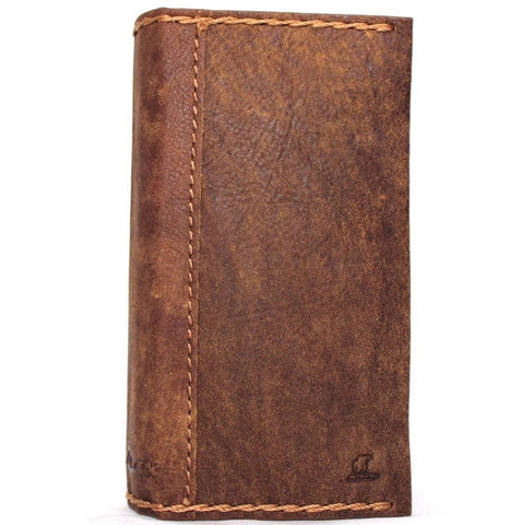 Genuine real leather Case for iPhone 7 vintage cover credit cards slots luxury brown daviscase