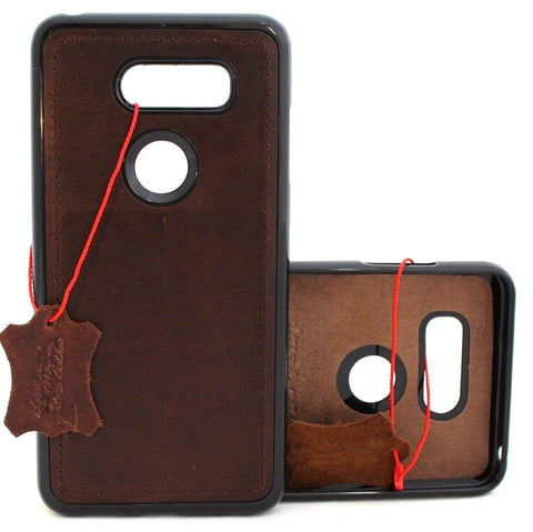 Genuine vintage leather Case for LG V40 slim cover magnetic luxury wallet handmade soft holder daviscase V 30 oiled