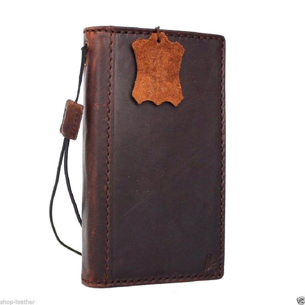genuine italian leather Case for Samsung Galaxy S7 book wallet handmade cover s Business daviscase