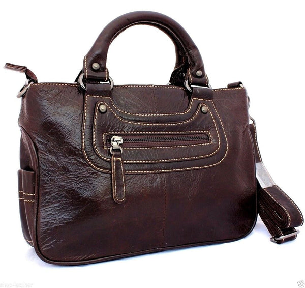 Genuine leather woman bag Purse Shoulder tote Handbag lady hobo Messenger soft R