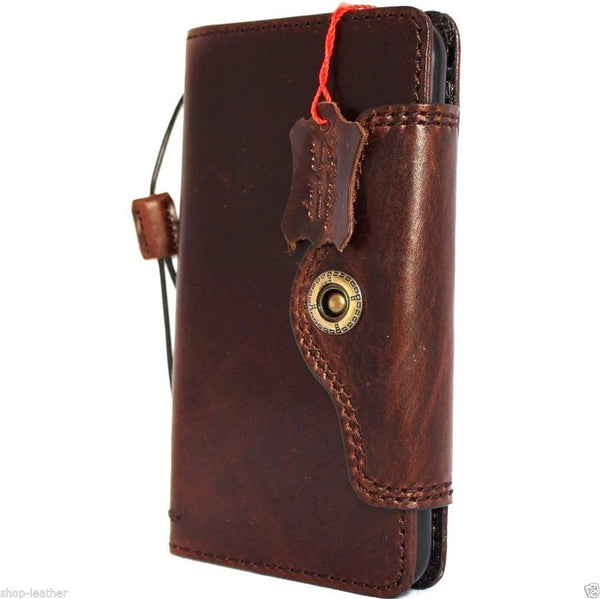 genuine OIL leather case for iphone 6s plus cover book wallet band credit card id 6 s magnet business slim magnet  au daviscase