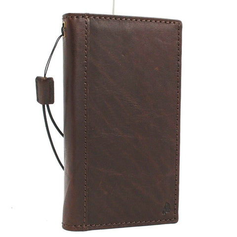 Genuine leather Case for Samsung Galaxy S10e book wallet cover Cards wireless charging dark rubber holder slim daviscase