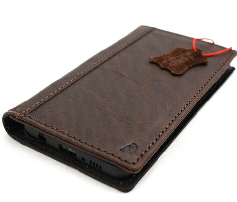 Genuine leather Case for Samsung Galaxy S10e book wallet cover Cards wireless charging dark luxuey pro slim daviscase