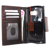 genuine italian oiled leather Case for Samsung Galaxy S7 Active book wallet handmade cover s Businesse daviscase mag