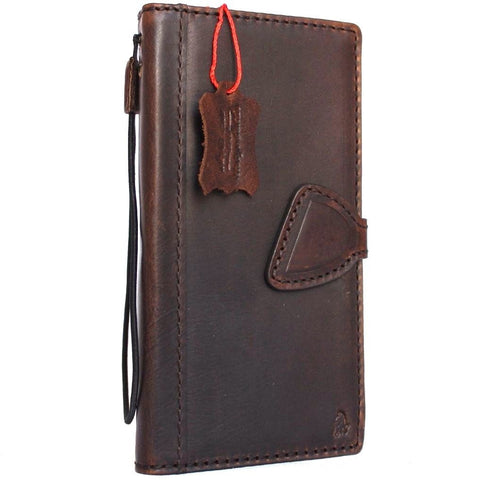 Genuine italian leather Case for Samsung Galaxy S8 plus book wallet magnetic handmade cover s Businesse daviscase