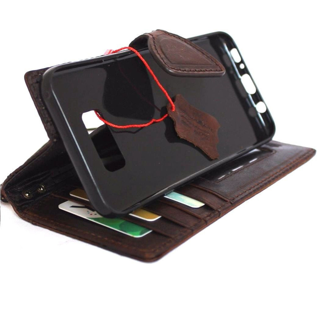 genuine italian leather case for samsung galaxy s8 plus book wallet