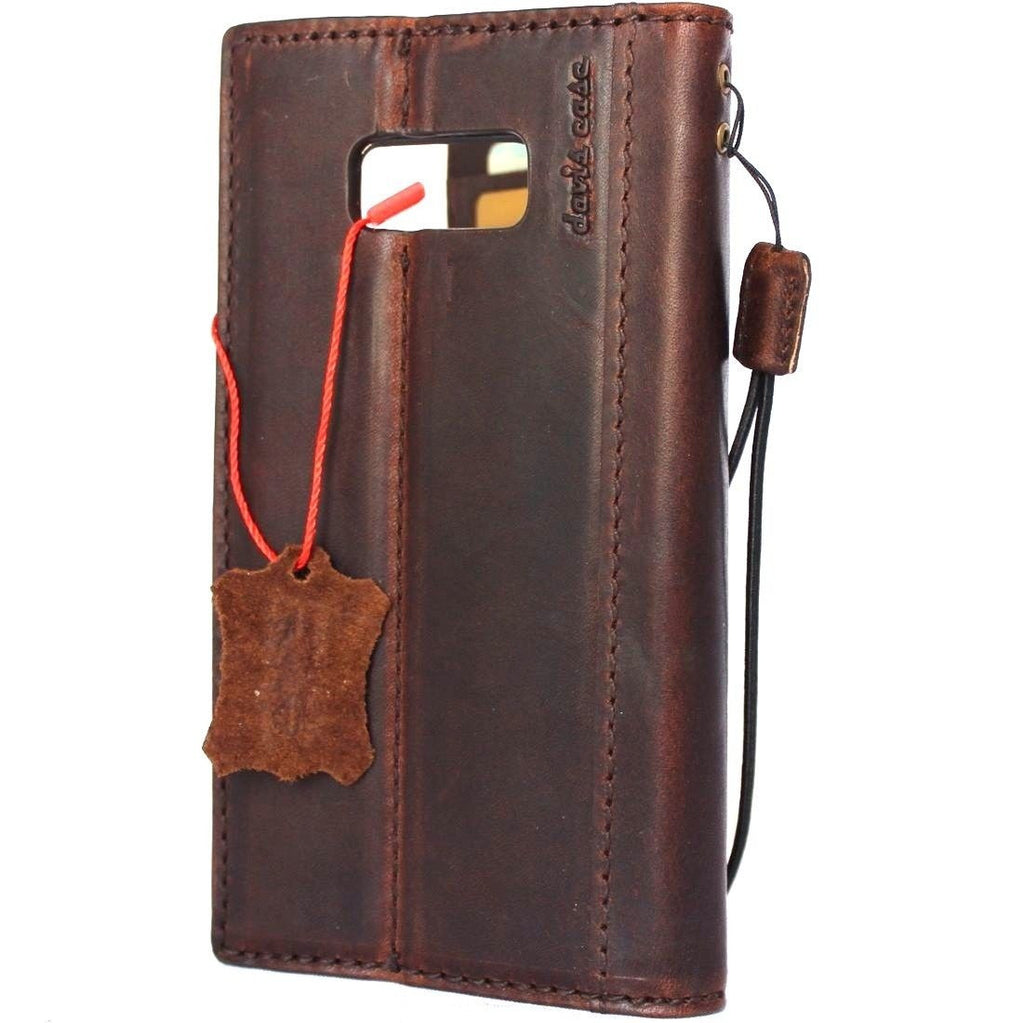 best service 0198e 53627 Genuine italian leather Case for Samsung Galaxy S8 plus book wallet  magnetic handmade cover s Businesse daviscase