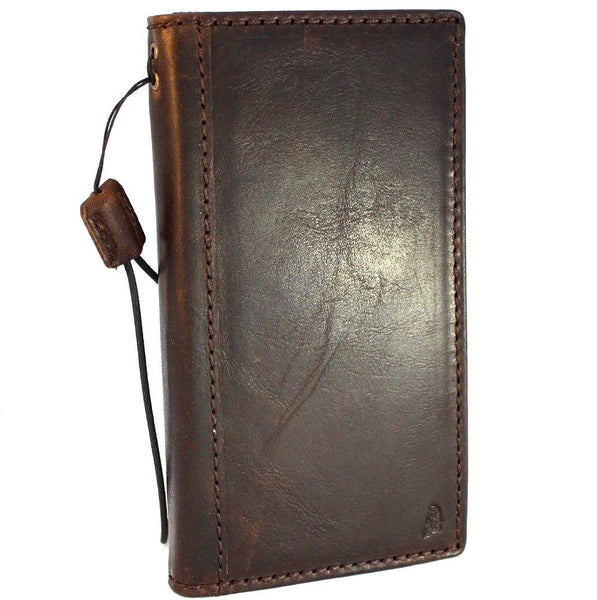 Genuine italian leather Case for Samsung Galaxy A8 2018 book wallet handmade cover s Businesse daviscase