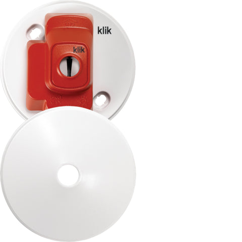 Hager 4 Pin Plug in Ceiling Rose Red  - CR64AX