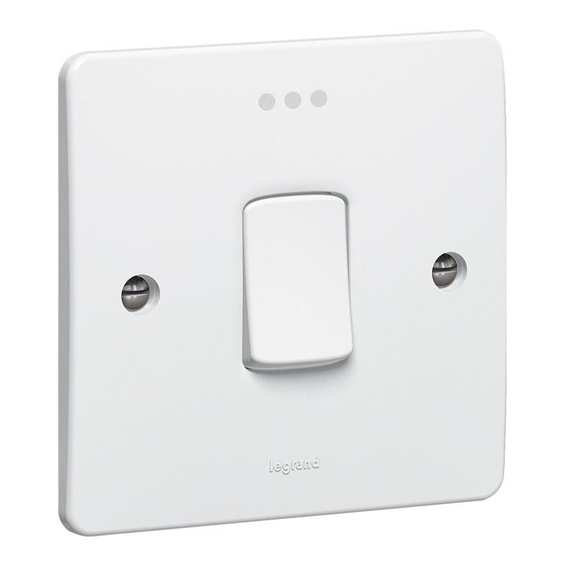 Synergy White - 20A DP switch + LED  - Legrand 730012