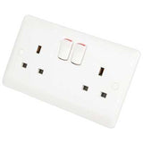 Synergy White - 13A double switched socket - Legrand 730076