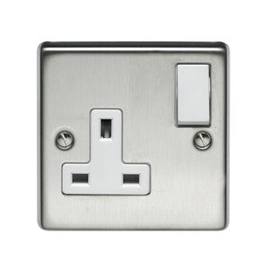 Volex Stainless Steel 13A switch socket without neon - Ahuja Electricals - UAE largest distributors of electricals goods
