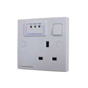 Powermatic - Surge protection Smart socket  - 13A switch socket - Ahuja Electricals - UAE largest distributors of electricals goods