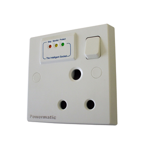 Powermatic - Surge protection Smart socket  - 15A switch socket - Ahuja Electricals - UAE largest distributors of electricals goods