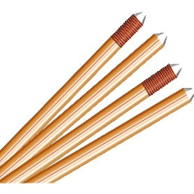 4 Feet Pure copper solid earth rod plus accessories - Ahuja Electricals - UAE largest distributors of electricals goods