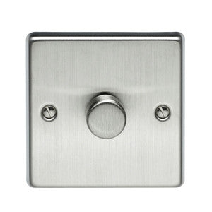 Volex Stainless Steel 500W single dimmer - Ahuja Electricals - UAE largest distributors of electricals goods