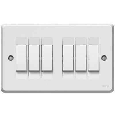 Tenby 6G 1W switch white - Ahuja Electricals - UAE largest distributors of electricals goods