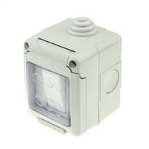 13A twin switch socket waterproof switch IP55