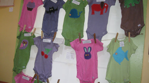 Onesies by local Shellie Chambers - $20.00