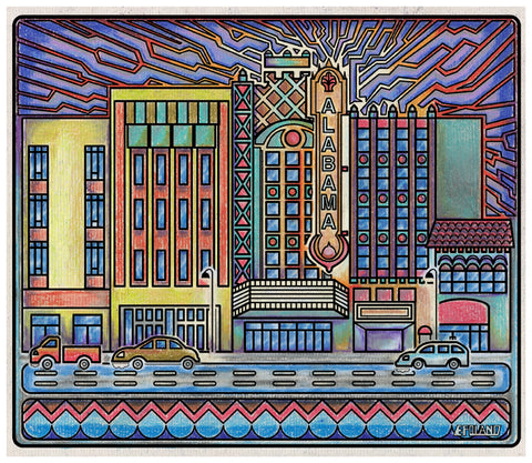 """Alabama Theater"" and other landmarks, Limited edition print on paper by local artist Eric Poland. Starting at $15.00"