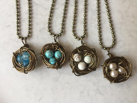 Nest necklaces by Jenni Adkins Horne. $30.00.