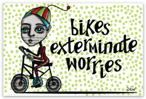 Sticker - Bikes Exterminate Worries