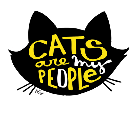 Sticker - Cats are my People