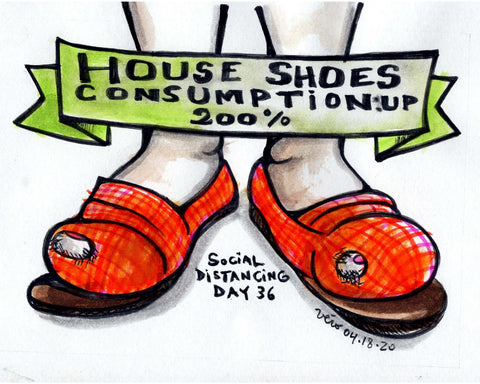 Social Distancing print (pre-order) - House shoes