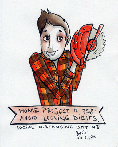 Social Distancing print (pre-order) - Home Projects