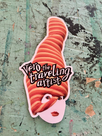 Sticker - Véro the traveling artist