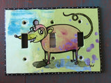 Triple Light Switch Plate - Possum