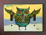 Triple Light Switch Plate - Owl